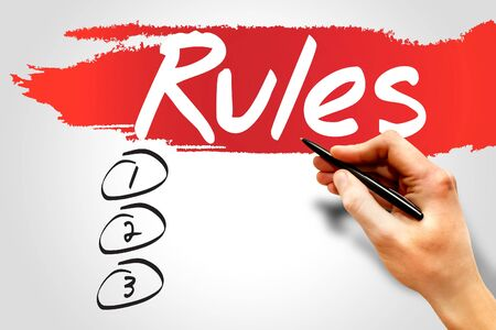 RULES blank list, business concept Stock Photo