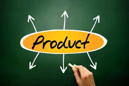 Product directions, business concept on blackboard photo