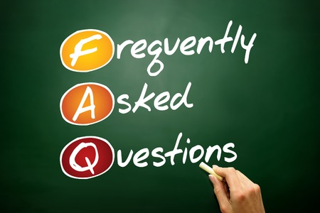 Frequently Asked Questions (FAQ), business concept acronym on blackboard photo