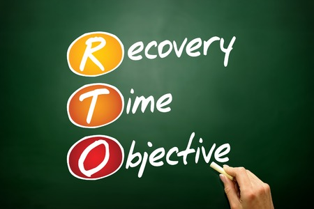 Recovery Time Objective (RTO), business concept acronym on blackboard photo