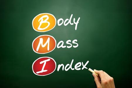 acronym: Body Mass Index (BMI), concept acronym on blackboard