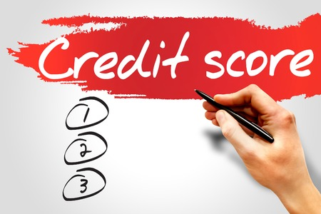 creditworthiness: CREDIT SCORE blank list, business concept