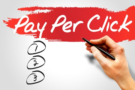 ppc: PAY PER CLICK (PPC) blank list, business concept