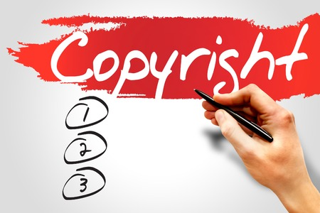 Copyright blank list, business concept Stock Photo