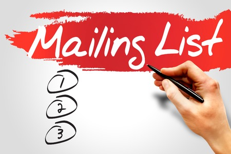 mailing: Blank Mailing list, business concept Stock Photo