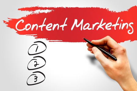 meta data: Content Marketing blank list, business concept