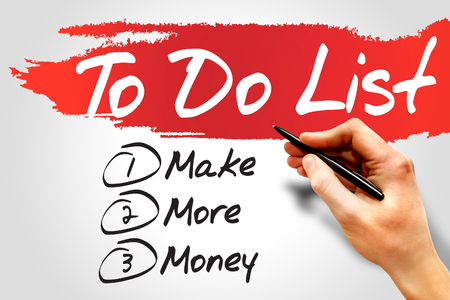 earn more: Make More Money in To Do List, business concept