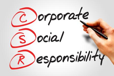 acronym: Corporate Social Responsibility (CSR), business concept acronym