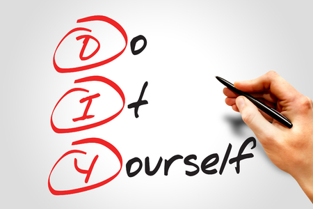 do it yourself: Do It Yourself (DIY), business concept acronym Stock Photo