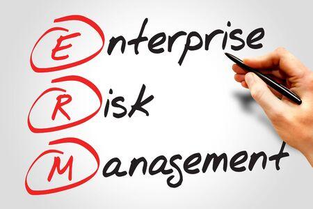acronym: Enterprise Risk Management (ERM), business concept acronym Stock Photo
