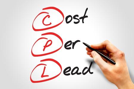 cpl: Cost Per Lead (CPL), business concept acronym Stock Photo