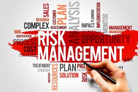 リスク管理の単語雲、ビジネス コンセプト