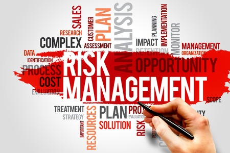 Risicomanagement woordwolk, business concept