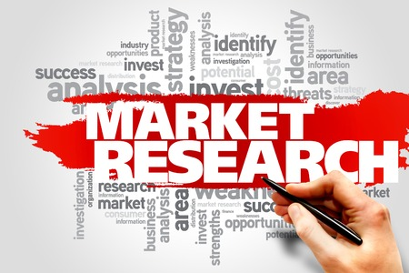 keyword research: Market research word cloud, business concept