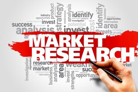 Marktonderzoek woord wolk, business concept