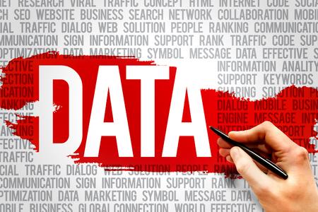 database management: DATA word cloud, business concept