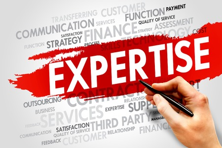 expertise: Expertise word cloud, business concept