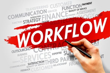 act: WORKFLOW word cloud, business concept