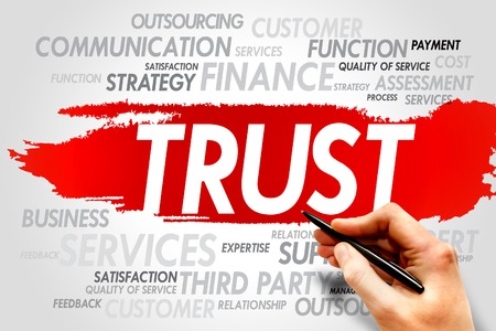 trust: TRUST word cloud, business concept
