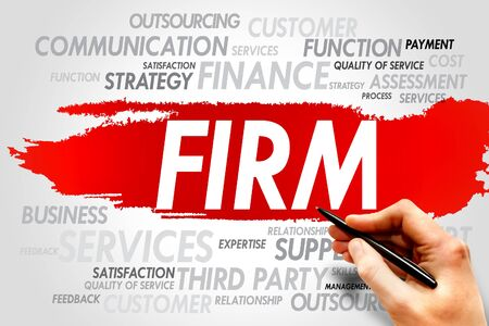 firm: FIRM word cloud, business concept