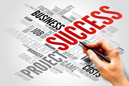 SUCCESS word cloud, business concept photo