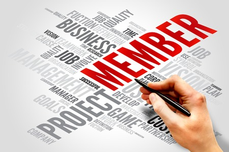 MEMBER word cloud, business concept