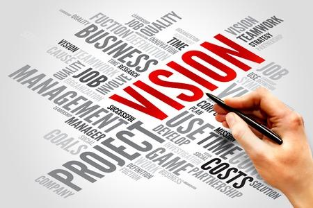 team vision: VISION word cloud, business concept