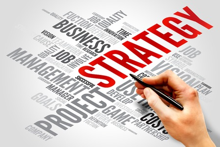 strategy decisions: STRATEGY word cloud, business concept