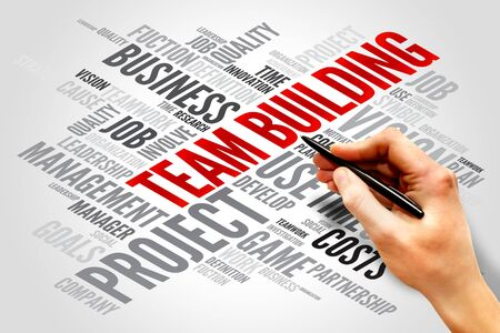 Team Building word cloud, business concept photo