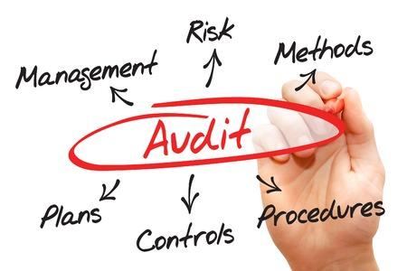 audit: Audit diagram process, business concept