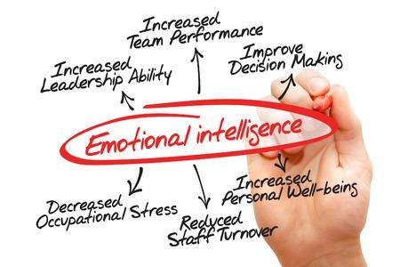 emotional: Emotional intelligence hand drawn diagram, business concept