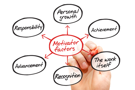 motivator: Motivator factors process flow chart, business concept