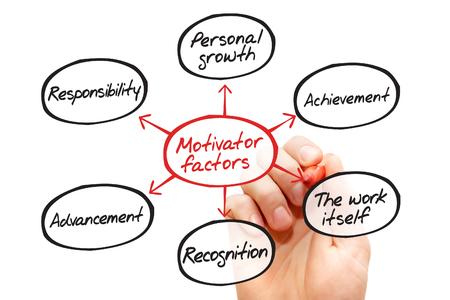 factors: Motivator factors process flow chart, business concept