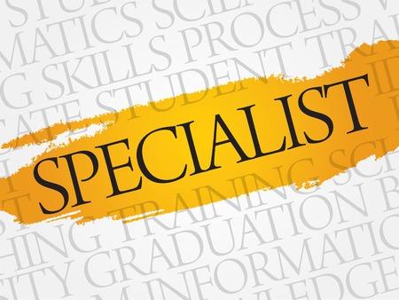 extensive: SPECIALIST word cloud, education business concept