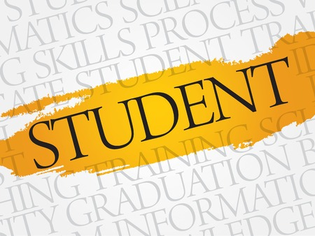 STUDENT word cloud, education business concept Illustration