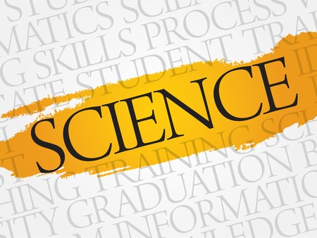 interdisciplinary: SCIENCE word cloud, education business concept