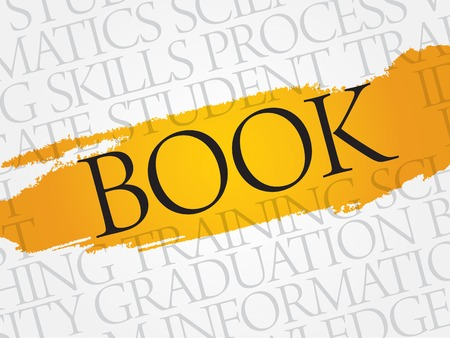 bookseller: BOOK word cloud, education business concept Illustration