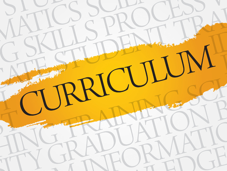 discipline: CURRICULUM word cloud, education business concept