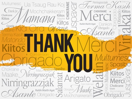 thanks you: Thank You Word Cloud, business concept
