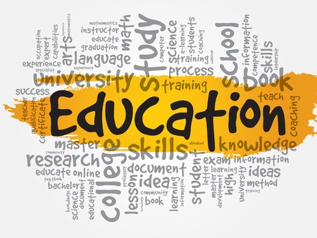 business collage: Education and learning word business collage concept