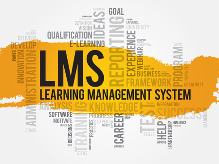 career coach: Learning Management System (LMS) word cloud business concept