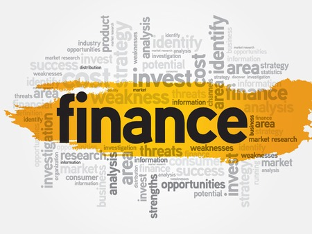 corporate finance: Finance word cloud, business concept