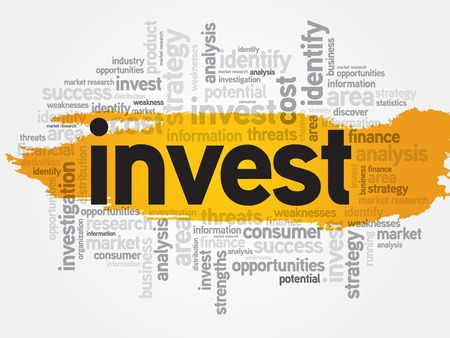 ownership equity: Invest word cloud, business concept Illustration