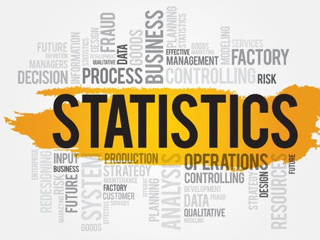 STATISTICS word cloud, business concept Vector