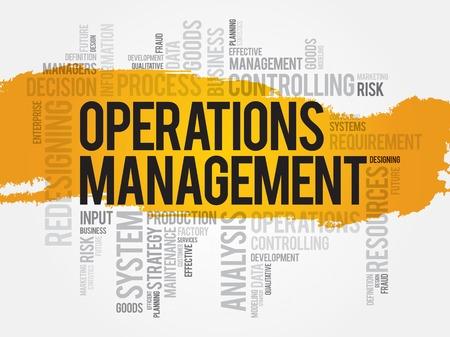 操作管理の単語の雲、ビジネス コンセプト  イラスト・ベクター素材