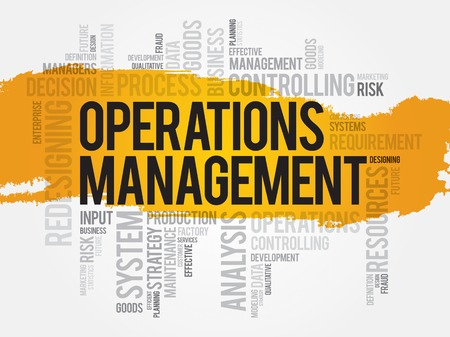 management process: Operations Management word cloud, business concept