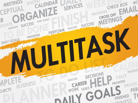 multitask: MULTITASK word cloud, business concept Illustration