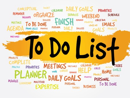 delegate: TO DO LIST word cloud, business concept