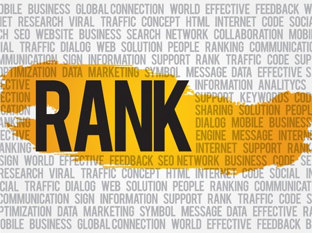 rank: Rank word cloud, business concept Illustration