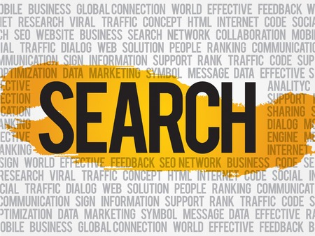 Search word cloud, business concept Illustration